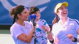 Sania Mirza 👑💕 with her Son | After match interview | Into Final of Cleveland 2021 Izhaan Mirza