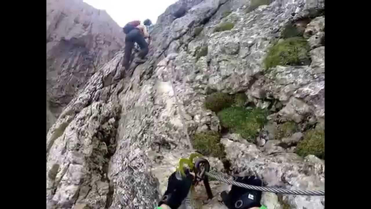 Klettersteig Pisciadu : Pisciadu klettersteig august youtube