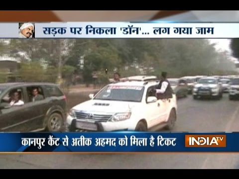 Mafia Don Atique Ahmed convoy creates traffic jam in Allahabad-Kanpur Highway