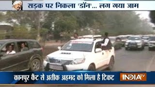 Mafia Don Atique Ahmed Convoy Caused Traffic Jam at Allahabad-Kanpur Highway