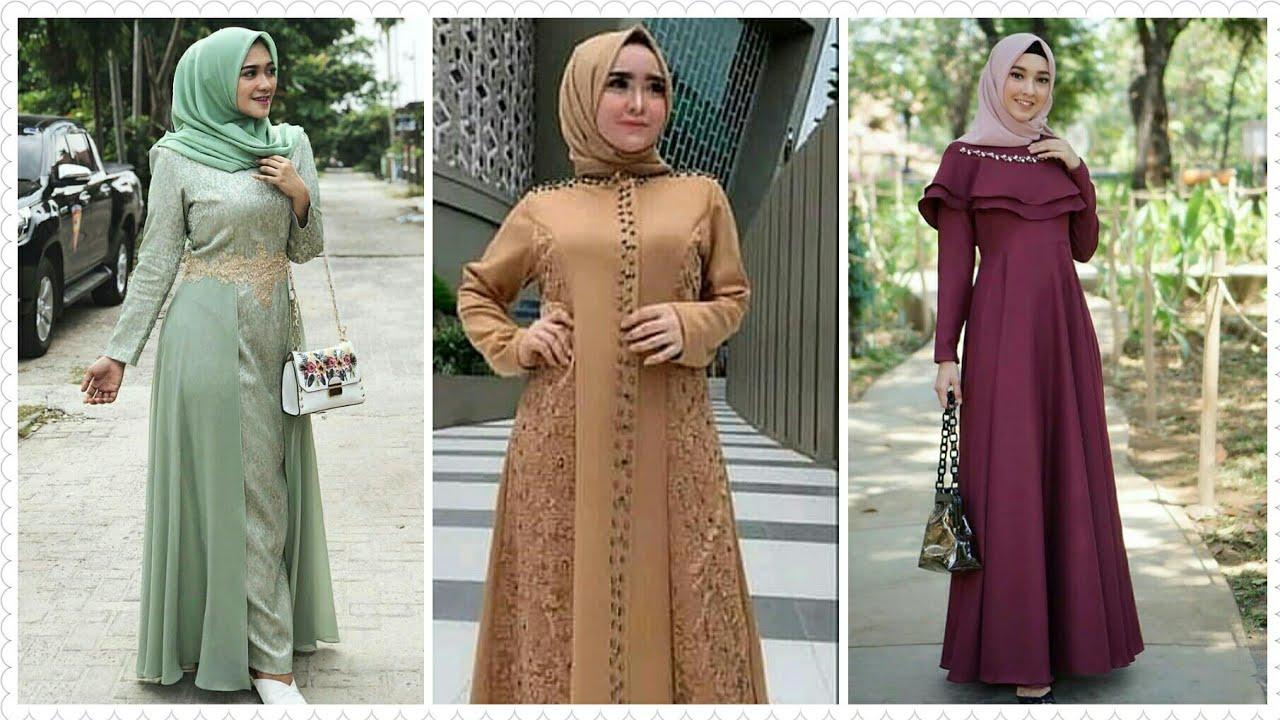 12 Model Baju Gamis Brokat Pesta Muslimah Terbaru 12/12