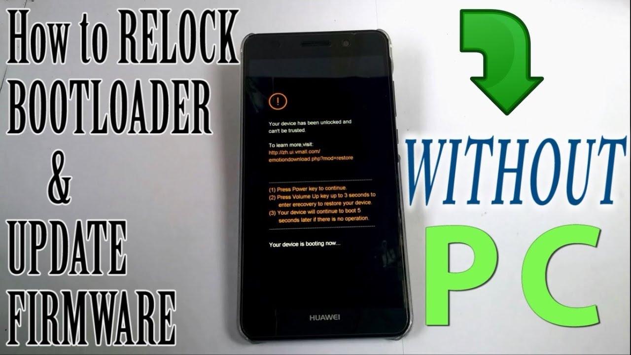Part 2: Relock bootloader & Update firmware manually