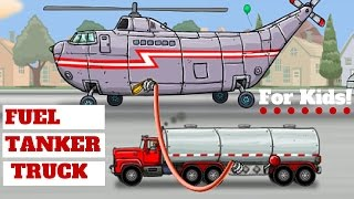 Fuel Tanker Truck!  Help The Truck Deliver Fuel l For Kids