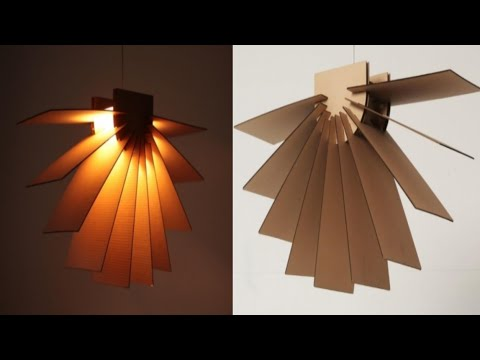 Pendant Hanging Lamp By Cardboard