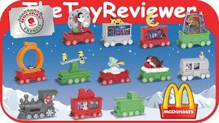 2017 Holiday Express Train Happy Meal McDonalds COMPLETE SET 12 Unboxing Toy Review TheToyReviewer
