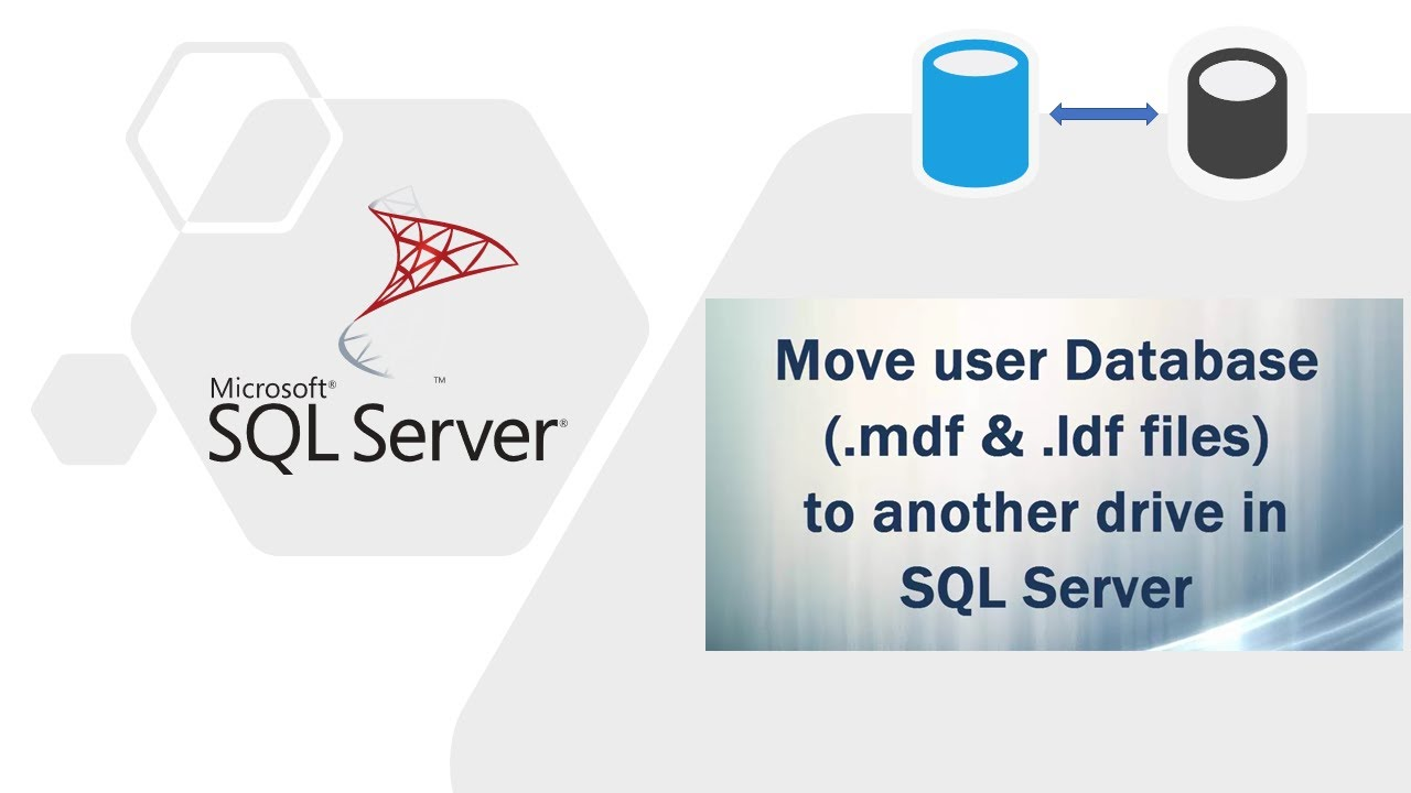 Move user Database ( mdf and  ldf files) to another drive in SQL Server