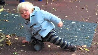 Funny Baby Scooting Around World