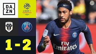 Neymar und Di Maria beenden PSGs Sieglos-Serie: Angers - Paris Saint-Germain 1:2 | Ligue 1 | DAZN