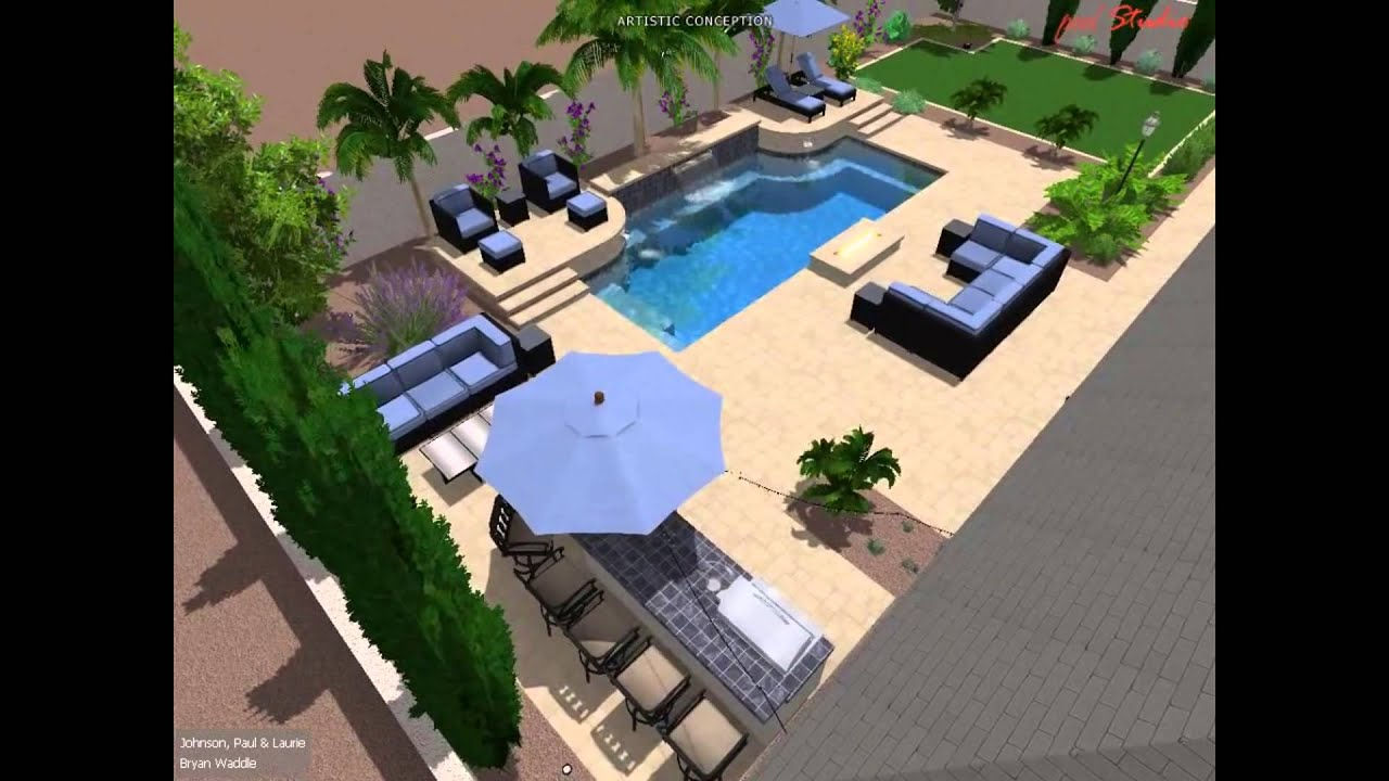 Johnson family backyard pool design concept by bryan for Pool design concepts