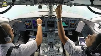 JUST ENJOY! Interjet Sukhoi Superjet planes ULTIMATE COCKPIT MOVIE [AirClips full flight series]