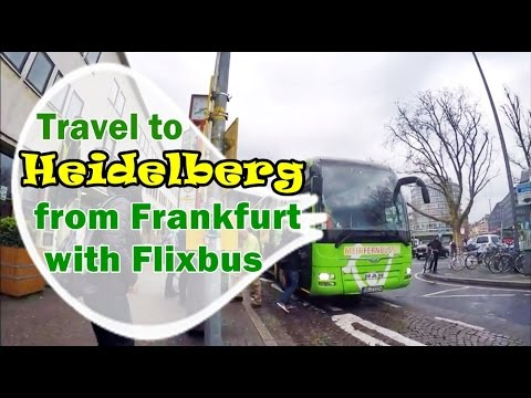 [เที่ยวยุโรป] Travel to Heidelberg from frankfurt with flixbus : Germany-Austria Travel Vlog Ep20