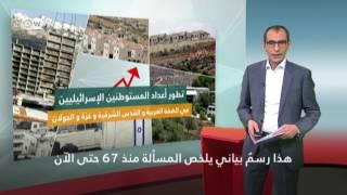 رسم بياني: كيف تضاعفت أعداد المستوطنين الإسرائيليين منذ 1967