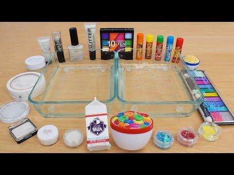 Milk vs Rainbow Cereal Mixing Makeup Eyeshadow Into Slime Special Series 186 Satisfying Slime Video
