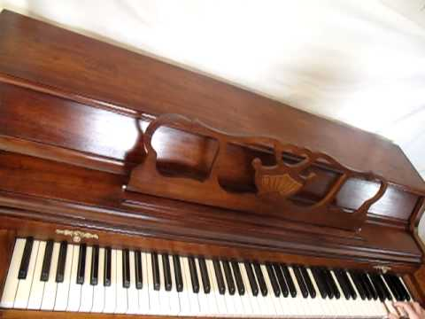 Kohler and Campbell spinet piano serial # 676260 - YouTube