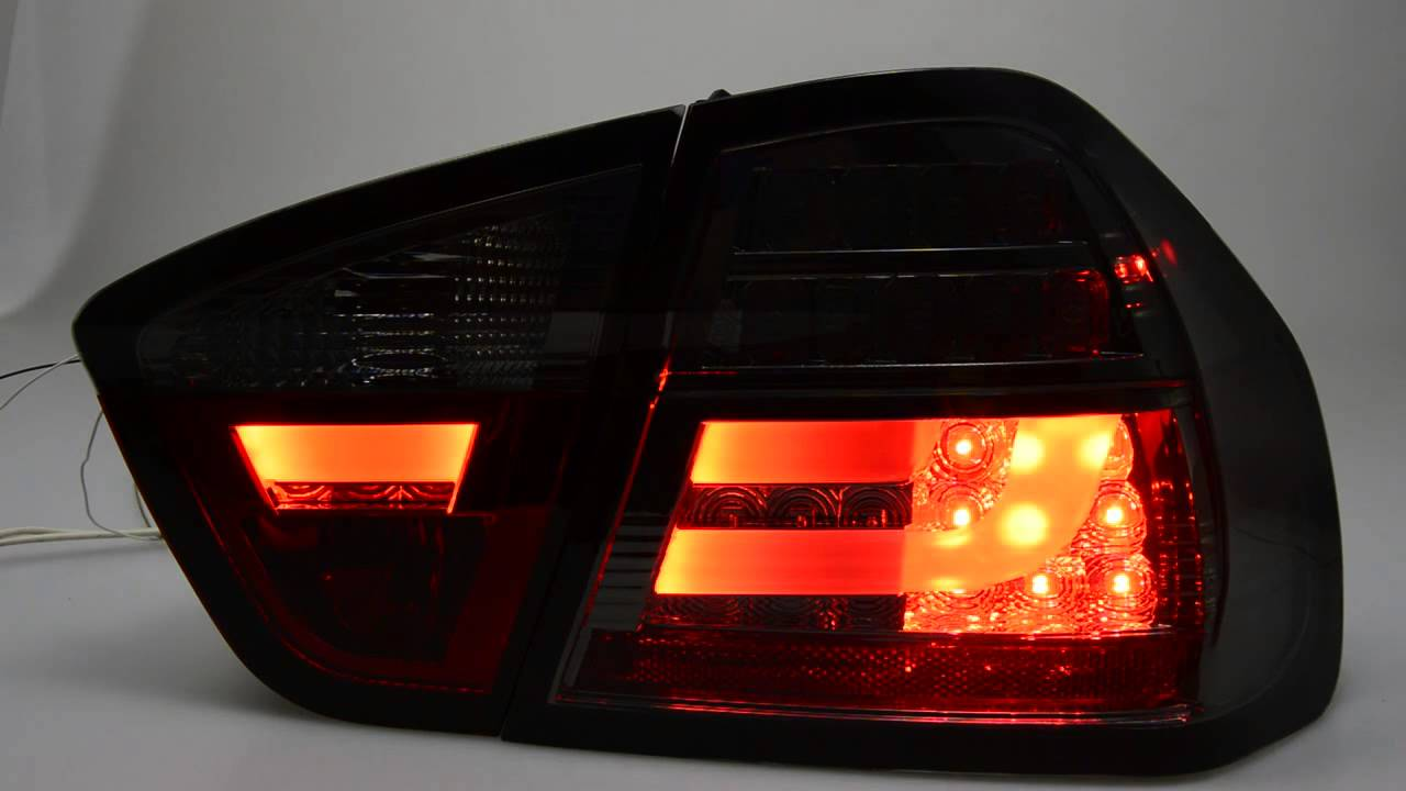 sw celis led r ckleuchten bmw e90 3er limo smoke lightbar. Black Bedroom Furniture Sets. Home Design Ideas