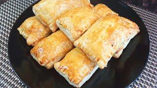 Chicken Puff Pastry|Tea Time Snack Bangla|Puff Pastry|চিকেন পাফ পেস্ট্রি