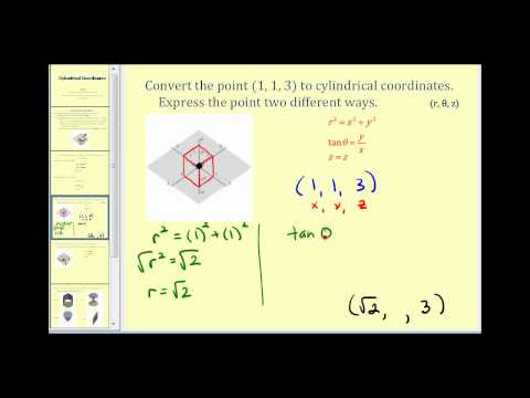 Introduction to Cylindrical Coordinates