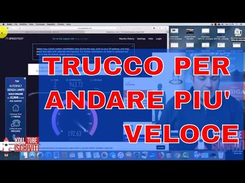 TRUCCO PER ANDARE PIù VELOCE SpeedTest Fibra Mille Mega