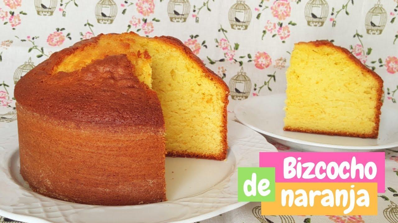 Bizcocho De Naranja Muy Esponjoso Receta Fácil Mi Tarta Preferida