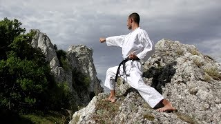 Karate Training Tips & Exercises in the Nature, Workout, Stretching