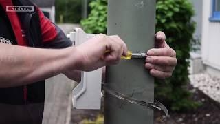 Mastbefestigung Kleinverteiler / Pole mounting of KV small-type distribution boards
