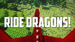 TAME and RIDE DRAĠONS in Minecraft! (Ice and Fire Mod)