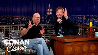"Bruce Willis Is A Real Life Tough Guy - ""Late Night With Conan O'Brien"""