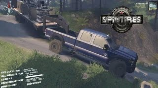 Spintires Hauling Frames On the Alps!