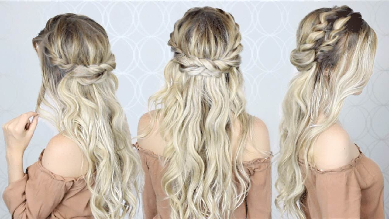 double twist crown braid