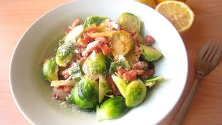 Recipe: Brussels Sprouts With Pancetta & Onions