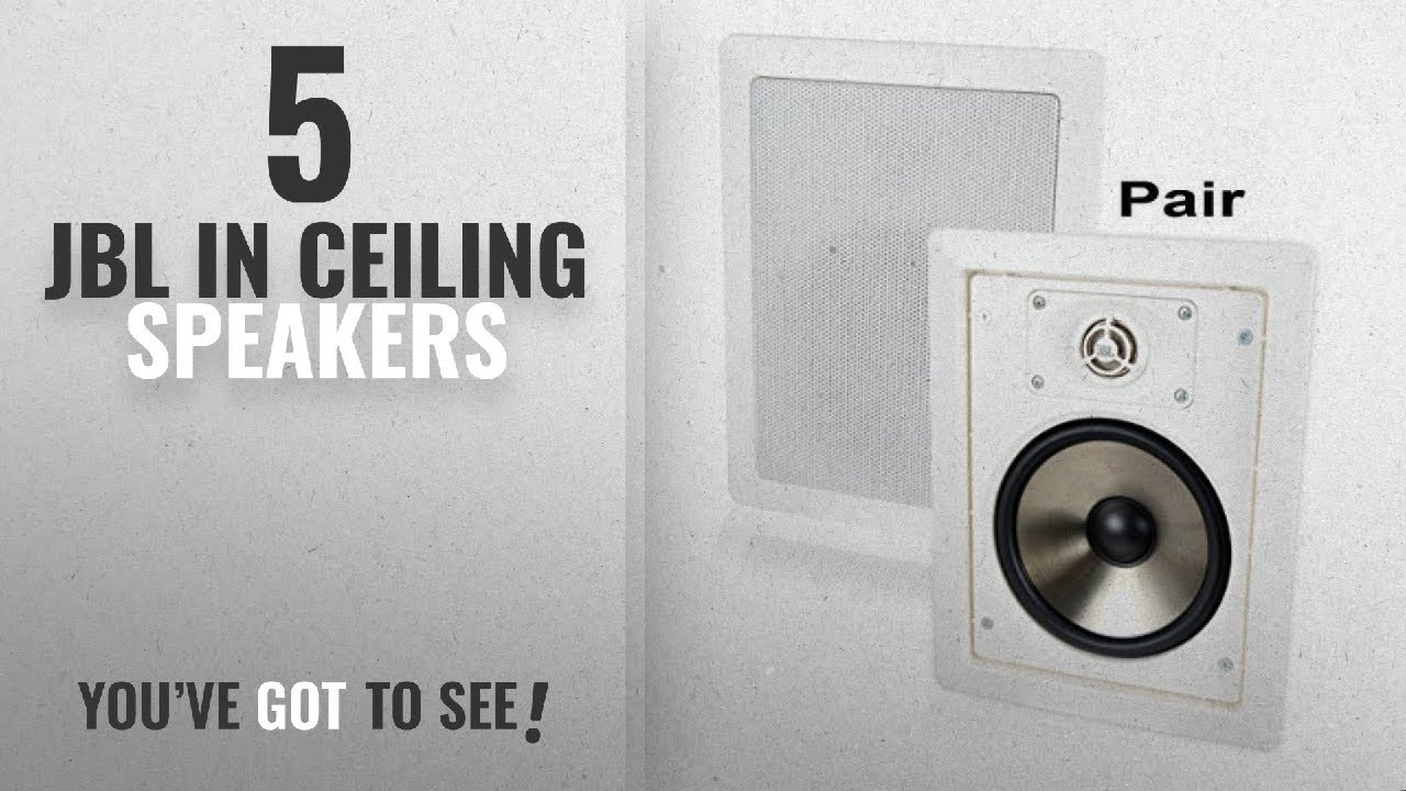 top 5 jbl in ceiling speakers 2018 jbl sp6ii 6 1 2 2 way in wall rh youtube com