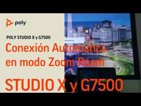 Poly Studio X y G7500 en modo Zoom - Conexión Automática