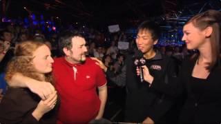 Red Shirt Guy hands over Doran