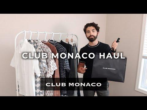 CLUB MONACO SALE HAUL Ft. Moi Husband