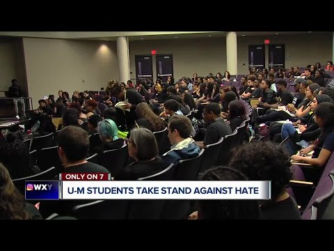 University of Michigan students take a stand against racist incidents on campus