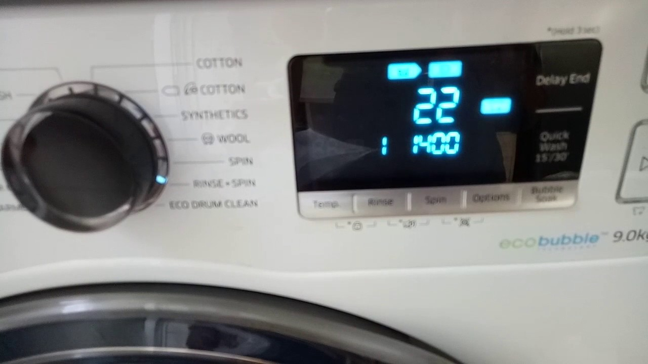 how to use samsung eco bubble washing machine u0026 dryer notes