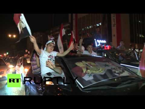 Syria  Damascus celebrates as Assad wins re election