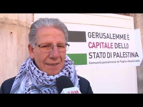 A Bari Il Sit In Della Comunità Palestinese Contro
