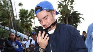 Zac Efron Ignores Fans At LA Dodgers World Series Final With Houston Astros