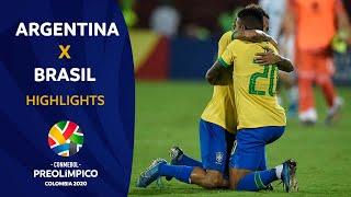 Argentina 0-3 Brasil l Preolímpico 2020