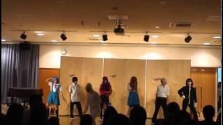 理数男子3人演劇科女子4人 本気でエヴァ踊ってみた 文化祭