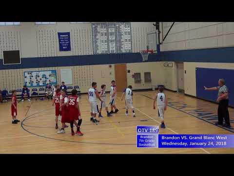 1/24/2018 Brandon 7th Grade Basketball VS  Grand Blanc West