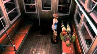 Resident Evil 3: Nemesis cutscenes - Meeting Mikhail (alternate) [Jill and Mikhail]