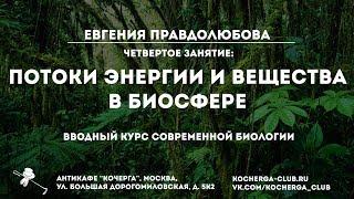 Евгения Правдолюбова: Вводный курс современной биологии. Четвертое занятие: биосфера
