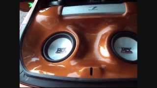 Custom sound system on the 2003 350Z - MTX 9500x2, Alpine type X PRO, Pioneer deck