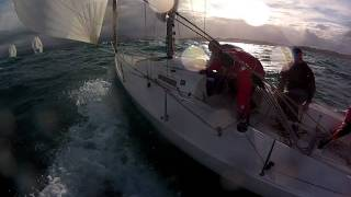 J80 ESP 880 in Santander - 28th January 2012 - Race 1. Recorded with Gopro