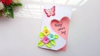 Handmade Mother's Day card /Mother's Day card making idea...