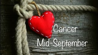 "Cancer Mid September Love ""two towers?! Lots of changes"""