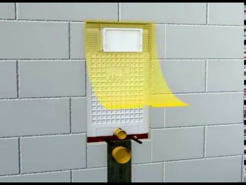 טוב מאוד הוראות התקנה למיכל הדחה סמוי ALCA לקירות בטון מבית פלסאון BJ-28