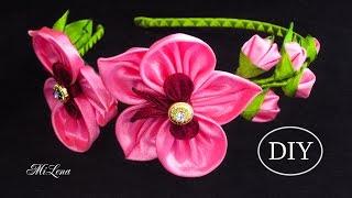 Tiara com flores de Orquídea